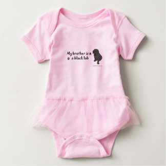 black lab-more breeds baby bodysuit