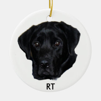 Black lab ornament