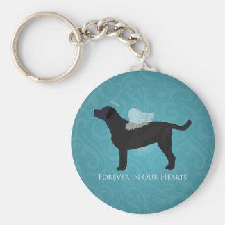 Black Lab Pet Memorial Sympathy Pet Loss Design Basic Round Button Key Ring