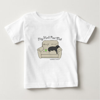 black lab play hard rest well baby T-Shirt