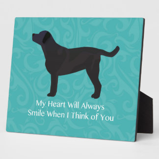 Black Lab Thinking of You Design Plaque