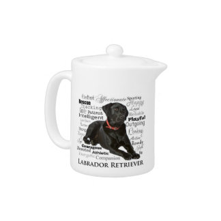 Black Lab Traits Teapot