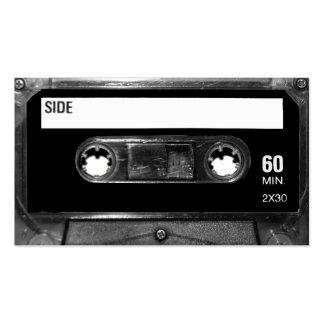 Black Label Cassette Business Card Templates