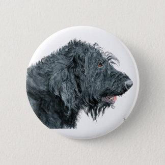 Black Labradoodle 6 Cm Round Badge