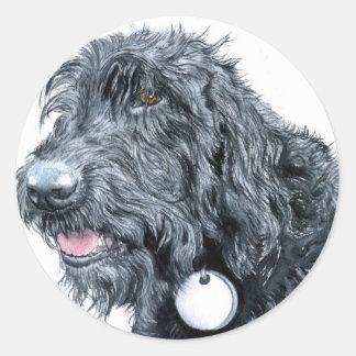 Black Labradoodle Stickers