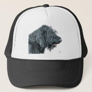 Black Labradoodle Trucker Hat