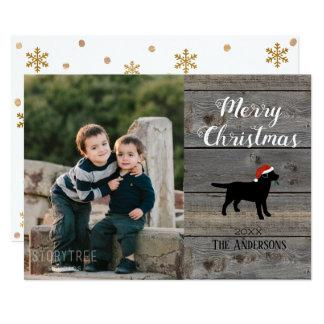 Black Labrador Christmas Card Template