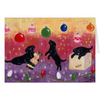Black Labrador Christmas Cards