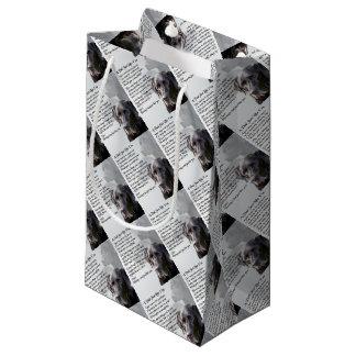 Black Labrador  Dad Poem Small Gift Bag