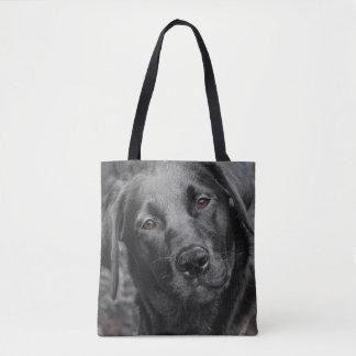 Black Labrador dog bag