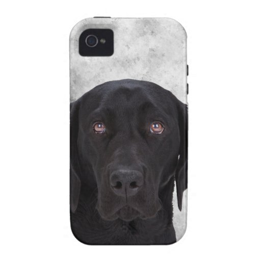 Black Labrador Dog Case-Mate iPhone 4 Case