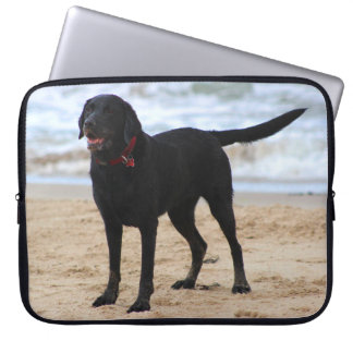 Black Labrador Dog Laptop Sleeves