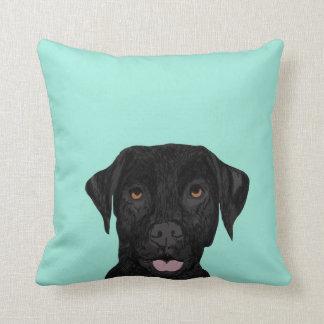 Black Labrador Dog Pillow - cute black lab
