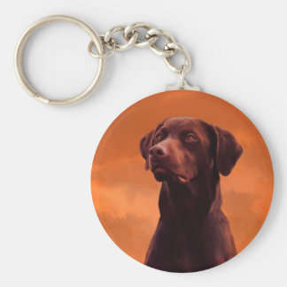 Black Labrador Dog Portrait Key Ring