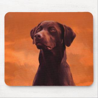 Black Labrador Dog Portrait Mouse Pad