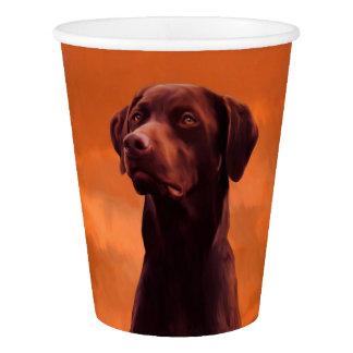 Black Labrador Dog Portrait Paper Cup
