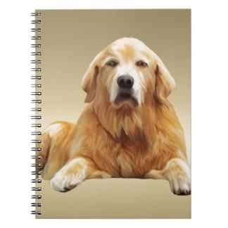 Black Labrador Dog Water Color Art Painting Spiral Notebook