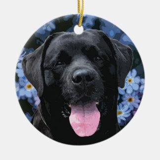Black Labrador - Forget Me Not Ceramic Ornament