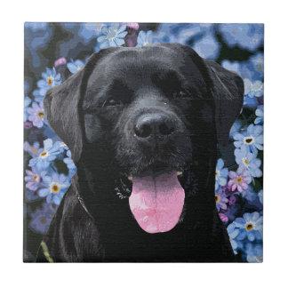 Black Labrador - Forget Me Not Ceramic Tile