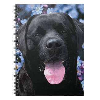 Black Labrador - Forget Me Not Spiral Notebook
