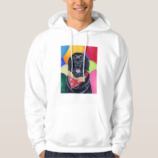 Black Labrador Happy Birthay Painting Hoodie