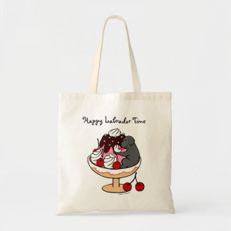 Black Labrador & Ice Cream Sundae Tote Bag