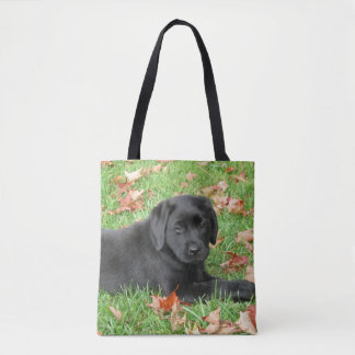 Black Labrador - Joy of Autumn Tote Bag