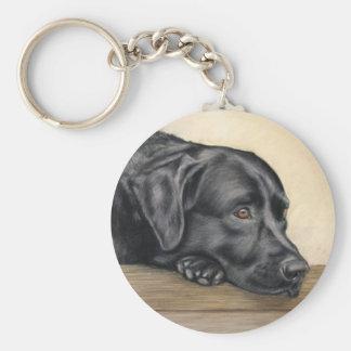 Black labrador key ring
