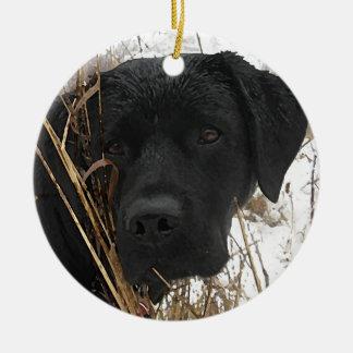 Black Labrador - Late Season Hunt Ceramic Ornament