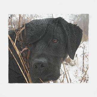 Black Labrador - Late Season Hunt Fleece Blanket