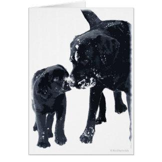 Black Labrador Love - Christmas Card