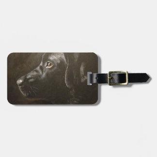 Black Labrador Luggage Tag
