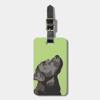 Black Labrador Luggage Tag (Choose Your Colour)