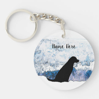 Black Labrador - Mountain Views Key Ring
