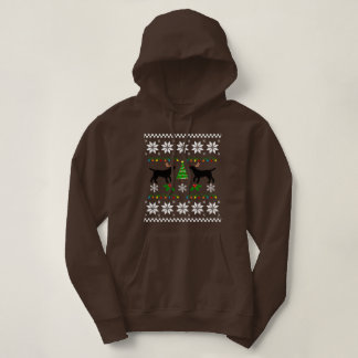 Black Labrador Outline Ugly Christmas Hoodie