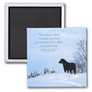 Black Labrador - Path Life Quote Magnet