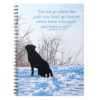 Black Labrador - Path Life Quote Spiral Notebook