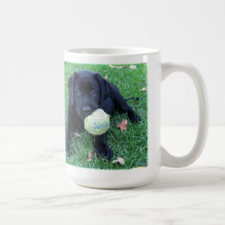 Black Labrador - Play Ball Coffee Mug