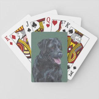Black Labrador Playing Cards