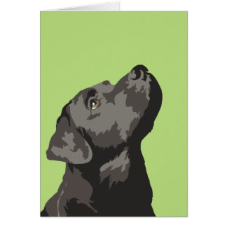 Black Labrador Pop Art Greetings Card