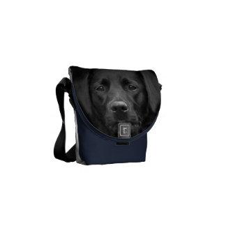 Black Labrador Portrait Bum Bag Commuter Bag