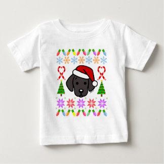 Black Labrador Puppy Christmas Pattern Baby T-Shirt