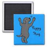 Black Labrador Puppy Hug