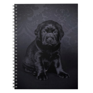 Black Labrador puppy Note Book