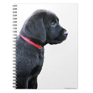 Black Labrador Puppy Notebook