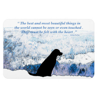 Black Labrador Quote - Felt with the Heart Magnet