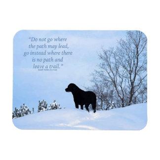 Black Labrador Quote - Leave a Trail Magnet
