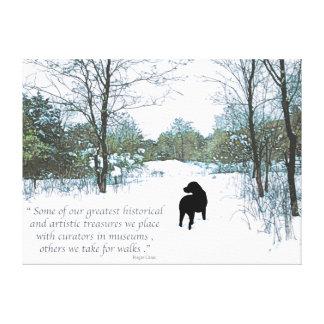 Black Labrador Quote - Treasures Canvas Print