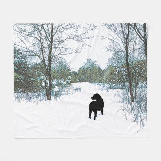 Black Labrador Quote - Treasures Fleece Blanket