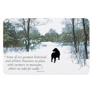 Black Labrador Quote - Treasures Magnet
